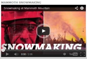 Snowmaking Mammoth Mtn